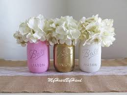 pink and gold baby shower baby shower decor pink and gold jars
