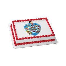 paw patrol quarter sheet edible cake topper party