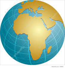 Map If Africa by Illustration Of Map Of Africa On Globe