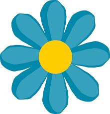 clipart blue flower