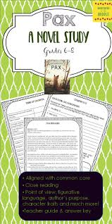 pax a novel study for grades 6 8 text dependent questions