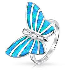 blue butterfly rings images 68 best butterfly rings images butterfly ring jpg
