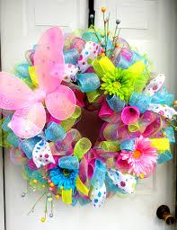 spring wreath spring deco mesh easter deco mesh wreath