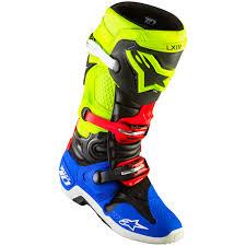 tech 3 motocross boots new alpinestars 2017 mx tech 10 black blue red fluro yellow