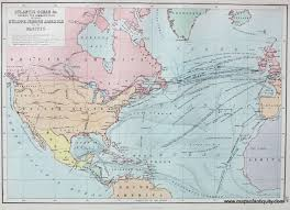 Labeled Map Of North America by Antique Maps And Charts U2013 Original Vintage Rare Historical