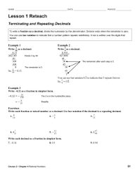 recurring decimals into fractions