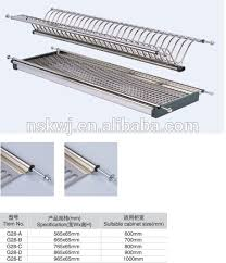 kitchen cabinet stainless steel dish drying rack plate drying rack