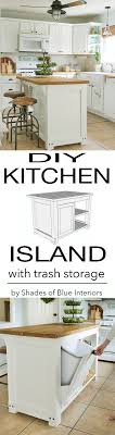 plans for a kitchen island diy kitchen island with trash storage shades of blue interiors