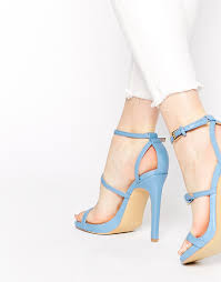 over heels by dune mermaide blue barely there heeled sandals at