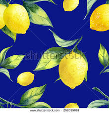 seamless lemon pattern seamless lemon pattern on dark blue stock illustration 258015881