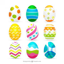Easter Egg Decoration Vector by Decorated Easter Eggs Collection Vector Free Download