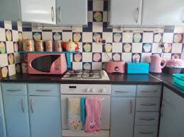 Kitchen Backsplash Decals by Cupcake Kitchen Back Splash To Hide Ugly Tiles Stickers Found On