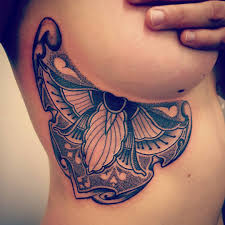 sideboob tattoos butterfly wing design lava360