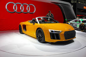 Audi R8 Yellow 2016 - the sky u0027s the limit in audi u0027s new v10 powered r8 spyder
