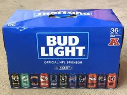 how much is a 36 pack of bud light nfl collectible bud light 36 pack super bowl party collectibles in