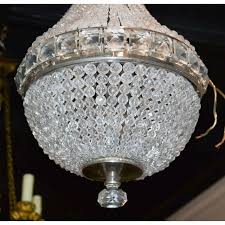 petite chandelier petite french crystal basket chandelier legacy antiques