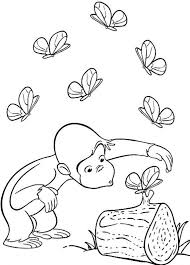 nice looking curious george coloring pages birthday curious george