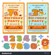 many stock birthday party invitation card vector creation children birthday party invitation card vector stock vector
