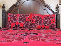 cotton bed linen set u2013 elephant print red eclectic ethnic bedding