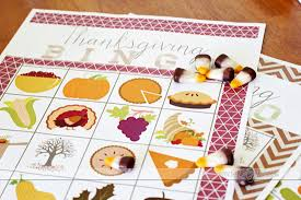 thanksgiving bingo and scavenger hunt