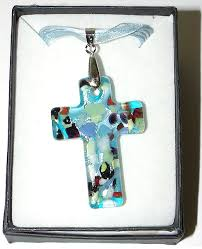 glass cross necklace images Murano glass cross necklace gif