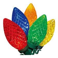 Led Christmas Lights Walmart Holiday Time Multi Color Led C9 Lights 100 Count Walmart Com