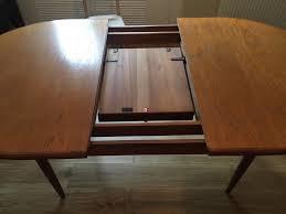 1970s g plan fresco oval extending dining table in teak vintage
