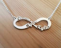 necklaces with children s names view infinity style by ronlidesigns on etsy