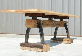 Bar Height Conference Table Custom Industrial Farmhouse Post Beam Bar Height Table By The
