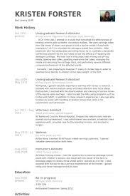 Veterinary Technician Resume Sample by Undergraduate Resume Sample Jennywashere Com