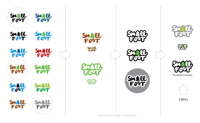 design a logo process small foot snowshoes logo design process ralev premium logo