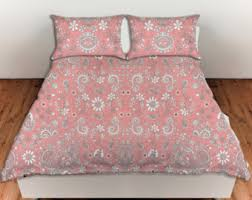 Shabby Chic Floral Bedding by Pink Duvet Etsy