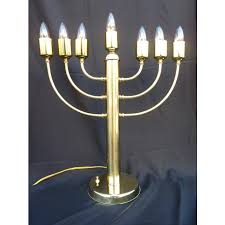 menorah 7 candles brass electric display menorah 7 or 9 branch display menorah ahuva
