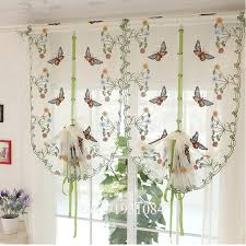 aliexpress com buy rustic butterfly over flowers design curtain