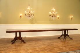 8 foot long table extra large 16 foot triple pedestal mahogany dining table