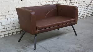canapé industriel canapé cra cu010 giani desmet meubles indus bois métal et cuir