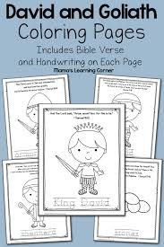 david and goliath coloring page david and goliath fight coloring