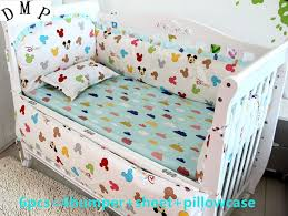 Crib Bedding Sets Promotion 6pcs Baby Bedding Set Baby Boy Crib Bedding
