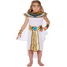 Egyptian Princess Halloween Costume Egyptian Princess Kids Childrens Girls Cleopatra Nile Queen Fancy