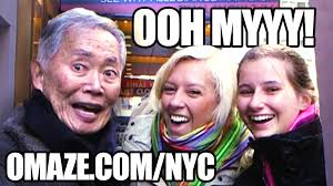 Charity Meme - george takei makes memes on the street with fans for charity