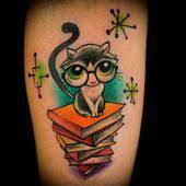 kitten u0026 books tattoo literary love u003c3 pinterest book tattoo