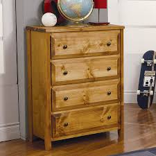 Rustic Bedroom Dressers - shop coaster fine furniture wrangle hill amber wash pine 4 drawer