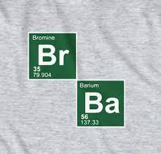 breaking bad bromine barium t shirt