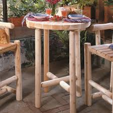 Small Bistro Table Mountain Woods Log Furniture Aspen Log Bistro Table