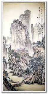 cuisine ang駘ique landscape painting mountains