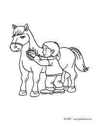 coloriages brossage d u0027un cheval à colorier fr hellokids com