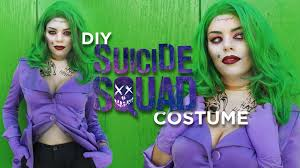 Female Joker Halloween Costume by Diy Squad Joker Inspired Costume Youtube