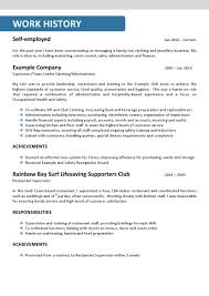 Resume Sample Hospitality by Hospitality Resume Australia Resume For Your Job Application