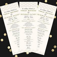 deco wedding program deco scallop wedding program 4x11 diy printable program