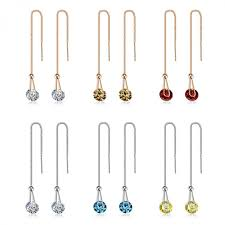 earrings for ustar 2 0 ct aaa zircon stud earrings for women chain